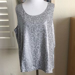 Silver shimmery Chicos size 3